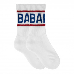 Kids terry short socks with barça letters