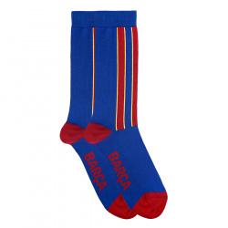 Men basic short socks with vertical stripes