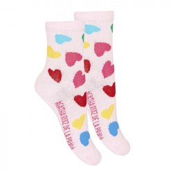 Heart fancy short socks PETAL