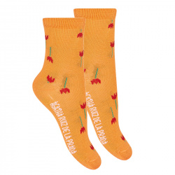 Tulip fancy short socks ORANGE