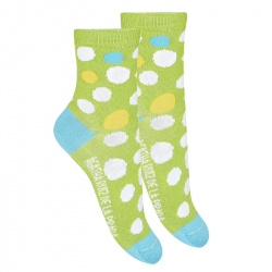 Irregular polka dot short socks GREEN