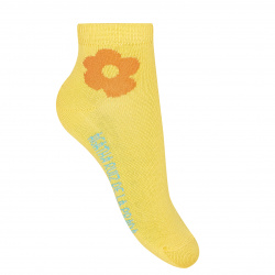 Floral fancy ankle socks YELLOW