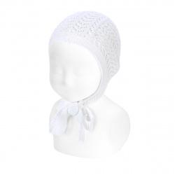Openwork bonnet WHITE