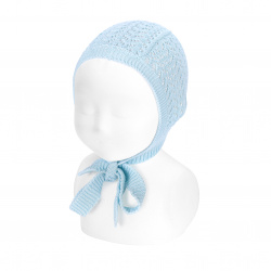 Openwork bonnet BABY BLUE