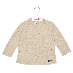 Links stitch openwork sweater LINEN