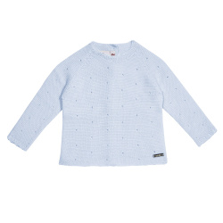 Links stitch openwork sweater BABY BLUE