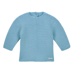Garter stitch sweater CLOUD