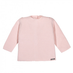 Garter stitch sweater PINK