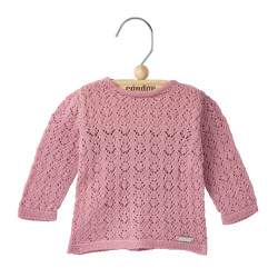 Shell openwork sweater PALE PINK
