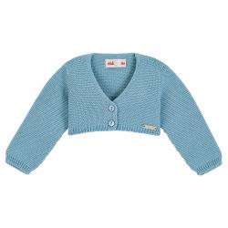 Garter stitch bolero cardigan CLOUD