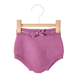 Garter stitch culotte with cord CASSIS
