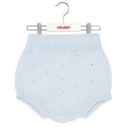 Links stitch openwork culotte BABY BLUE