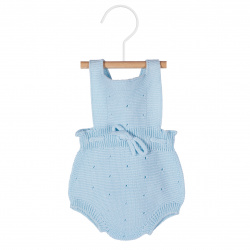 Links stitch openwork rompersuit BABY BLUE