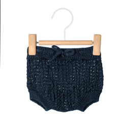 Openwork culotte with cord NAVY BLUE