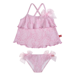 pink ballerina upf 50 tankini with organza bows PETAL