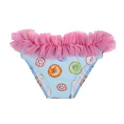 Delicakes upf 50 bikini bottom with frill tulle AQUAMARINE