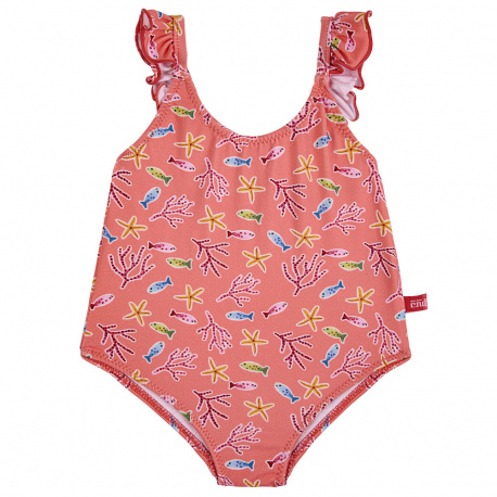 Under the sea upf 50 swimsuit with frilltulle CORALLINE