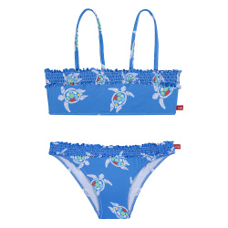 Save the turtles upf 50 bandeau bikini with smock ELECTRIC BLUE