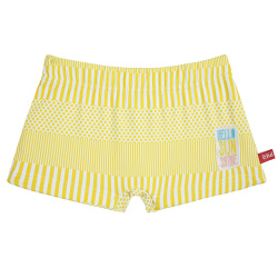 Sunshine embroidery upf50 boxer swimsuit LIMONCELLO