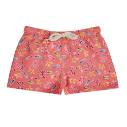 Under the sea quick dry boxer swimsuit CORALLINE