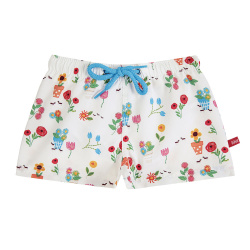 Gardening quick dry boxer swimsuit WHITE