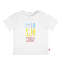 Sunshine print short sleeve t-shirt WHITE