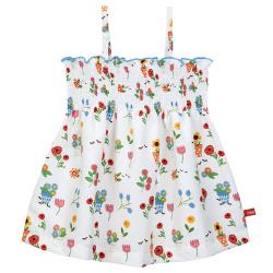 Gardening quick dry sleeveless dress with smock WHITE