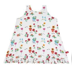 gardening upf 50 sun dress with back bow WHITE