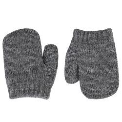Merino wool-blend one-finger mittens LIGHT GREY