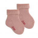 Wool terry short socks with folded cuff MAKE-UP