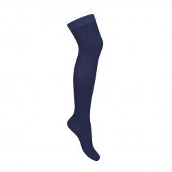 Over the knee plain stitch socks NAVY BLUE