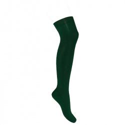 Over the knee plain stitch socks BOTTLE GREEN
