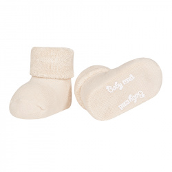 Baby cnd terry boots with folded cuff LINEN