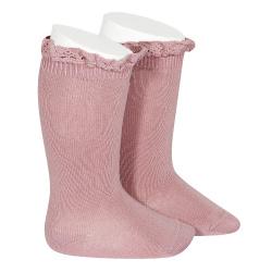 Knee socks with lace edging socks TAMARISK