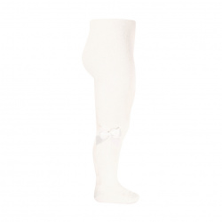 Tights with side grossgran bow CREAM
