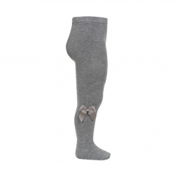 Tights with side grossgran bow LIGHT GREY