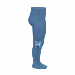 Tights with side grossgran bow FRENCH BLUE