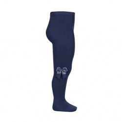 Tights with side grossgran bow NAVY BLUE
