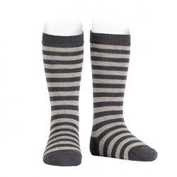 Knee-high striped socks with condor