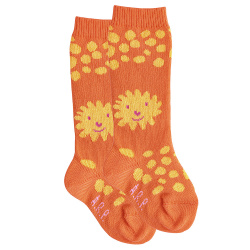 Baby lion knee socks ORANGE