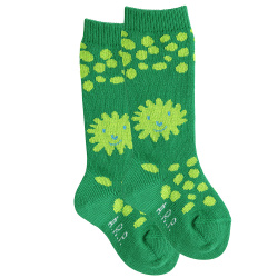 Baby lion knee socks BILLIARD GREEN