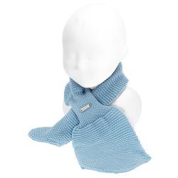 Baby crossed garter stitch scarf CLOUD