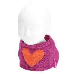 Baby heart snood-scarf BUGAMBILIA