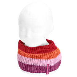 Baby pearly stitch multicolour snood-scarf BUGAMBILIA