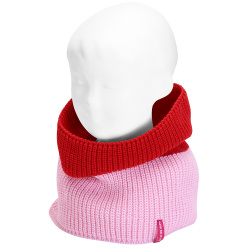 English stitch bicolour snood-scarf PETAL