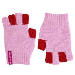 Bicolour fingerless gloves PETAL