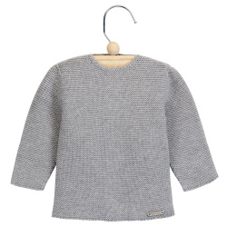 Garter stitch sweater ALUMINIUM