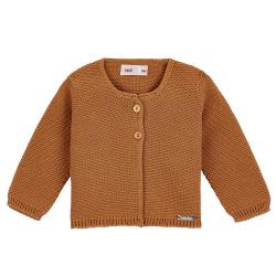 Garter stitch cardigan CINNAMON