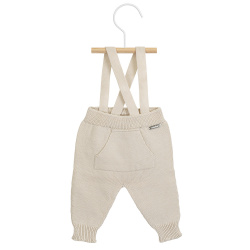 Garter stitich trousers with suspenders LINEN