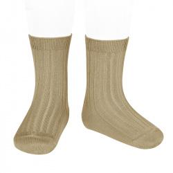 Basic rib short socks ROPE